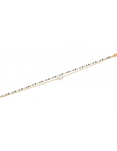 Bracelet SHIBUYA 2 Rangs en Plaqué...