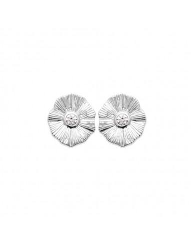 Boucles d'Oreilles FLAX en Argent